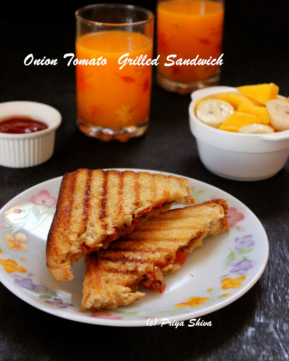 onion tomato grilled sandwich recipe