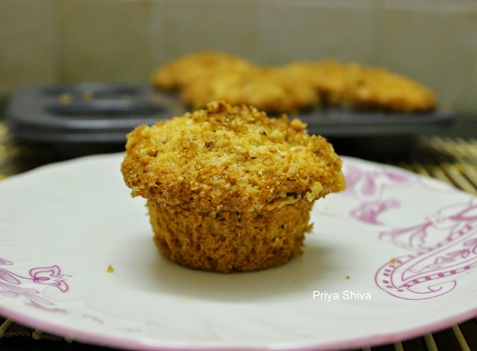 apple cherry streusal muffin