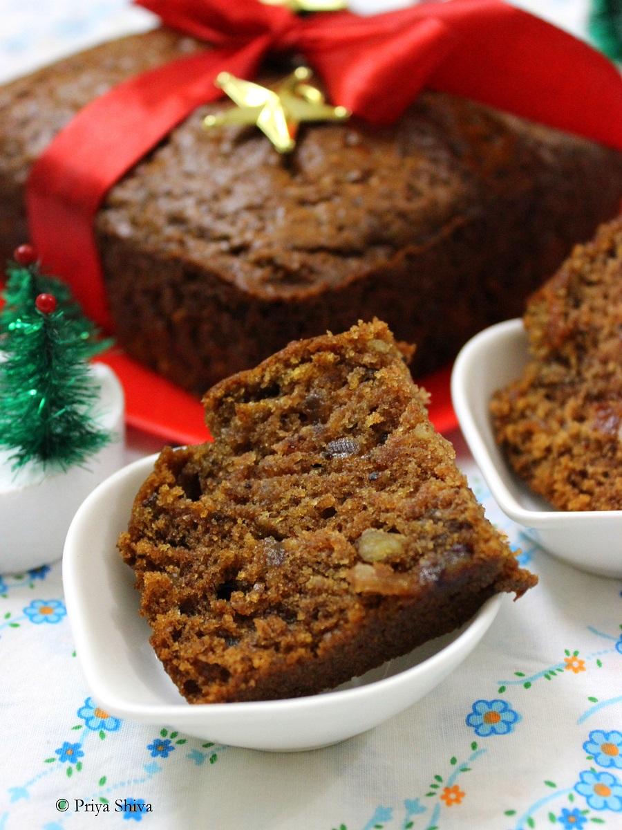 Christmas dates cake