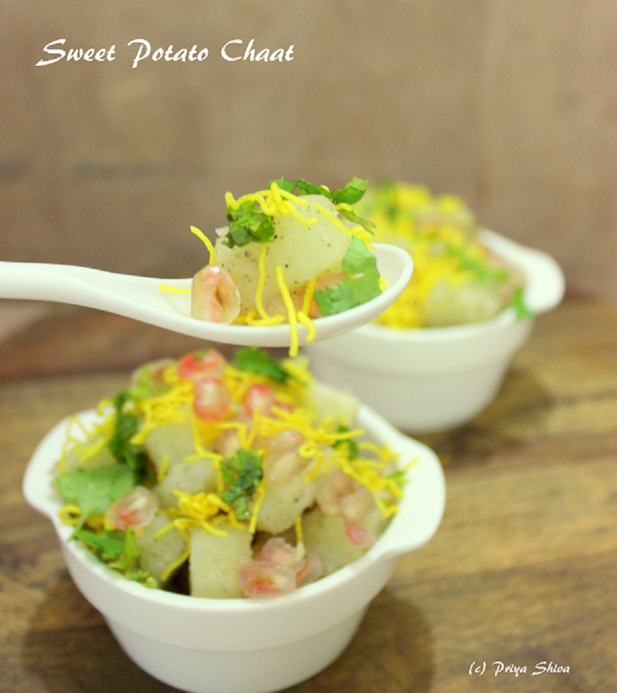 sweet potato chaat, recipe