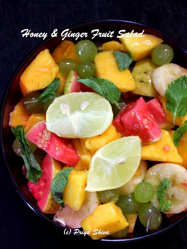 Honey, lemon and ginger fruit salad recipe