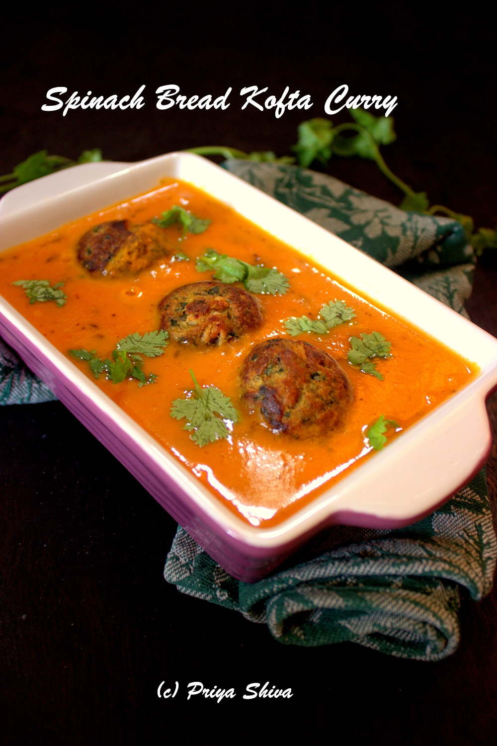 Spinach Bread Kofta Curry Recipe
