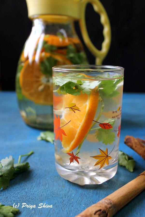 Clementine Cinnamon Cilantro Detox Drink recipe