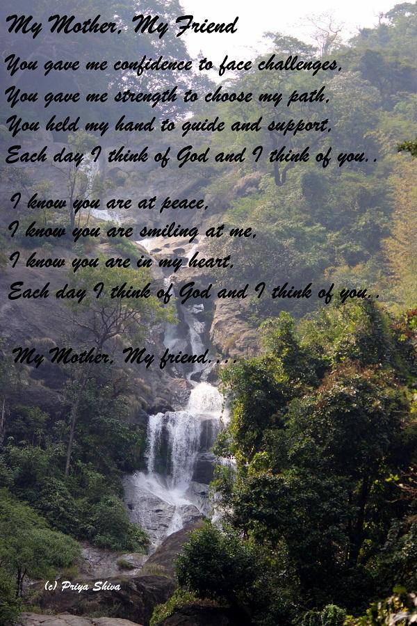 My mother,my friend