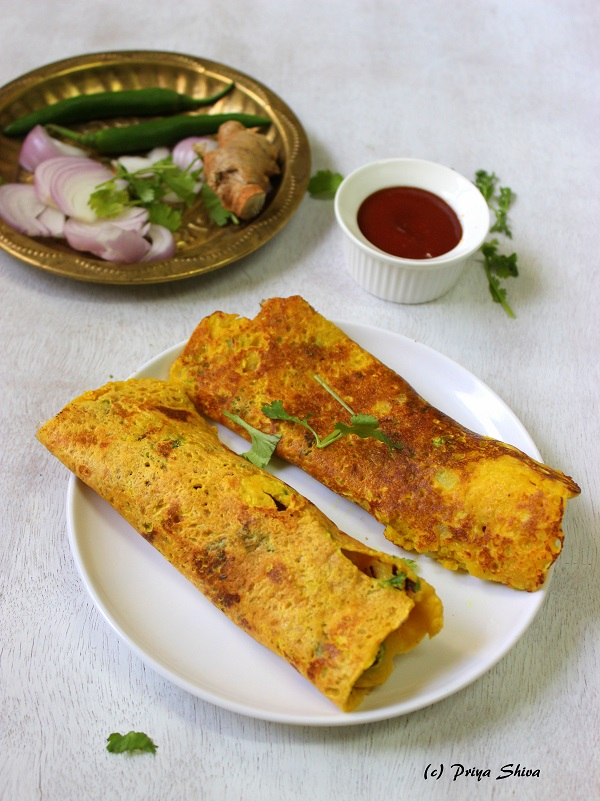 chickpeas flour crepes, besan ka cheela