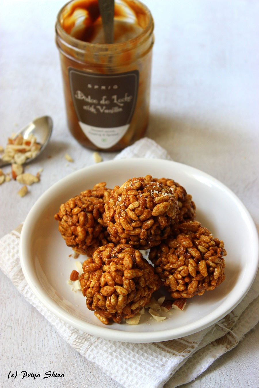 dulce de leche nutty Puffed rice balls