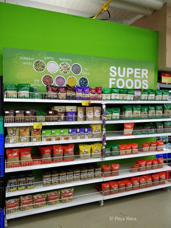 super food section - spar hypermarket