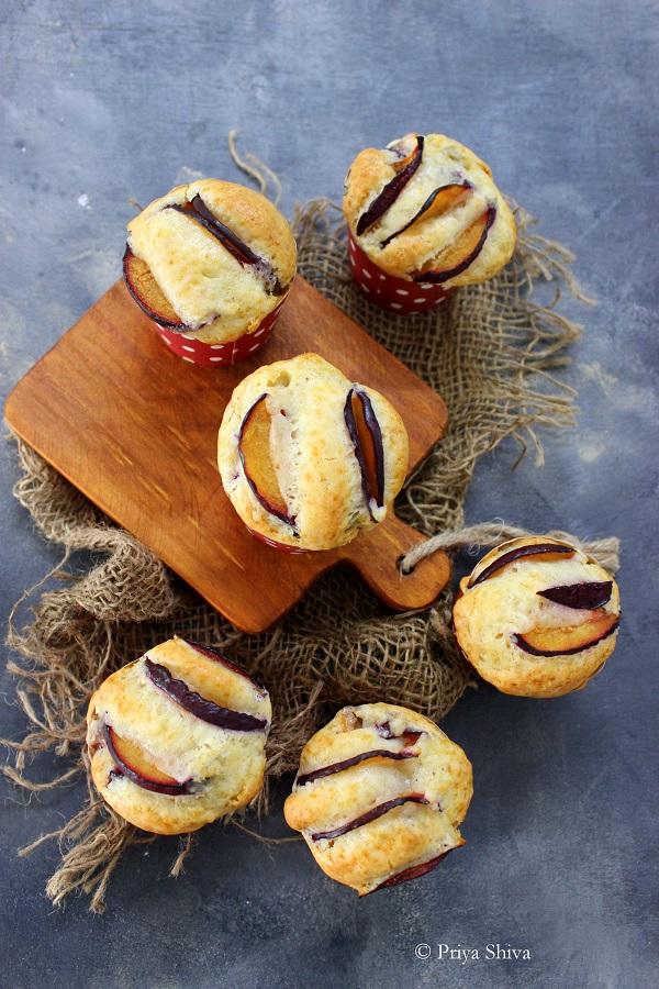 eggless plum muffin recipe