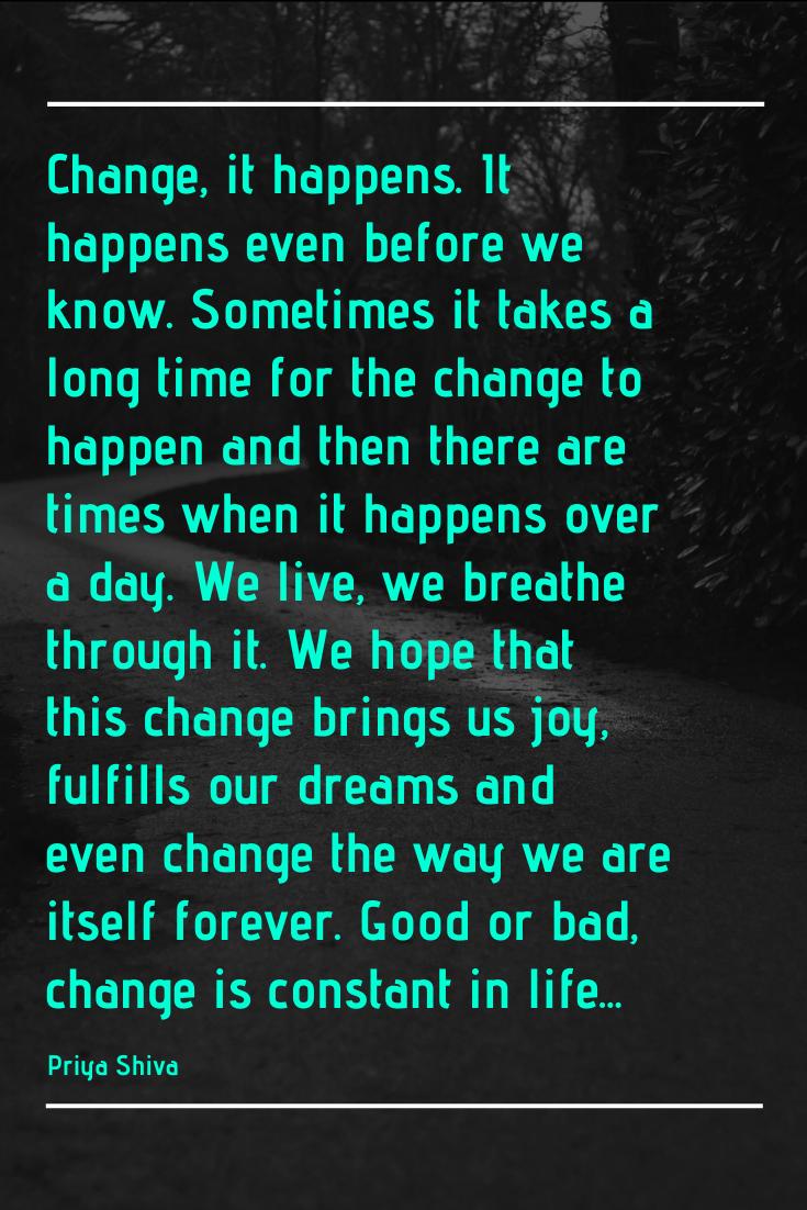 change quote by Priya Shiva
