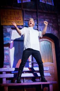 Rhydian Roberts as Orin Scrivello in Little Shop of Horrors. Photo Credit Matt Martin