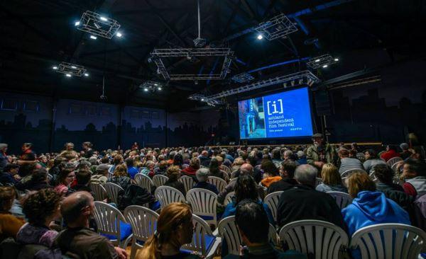 A crowd enjoying a film at the Ashland Independent Film Festival in Ashland, Oregon