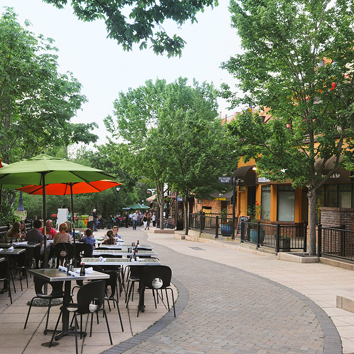 Dining along the creekside in downtown Ashland