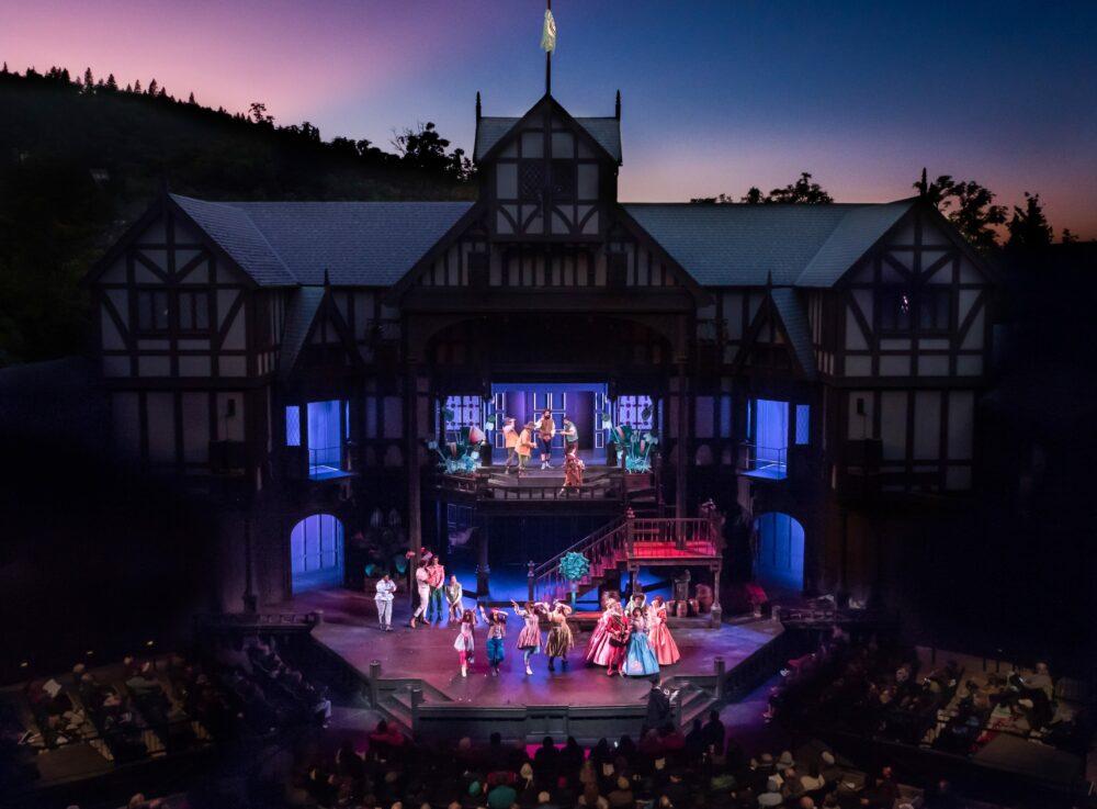 Performance at the Oregon Shakespeare Festival Elizabethan Stage in Ashland, Oregon