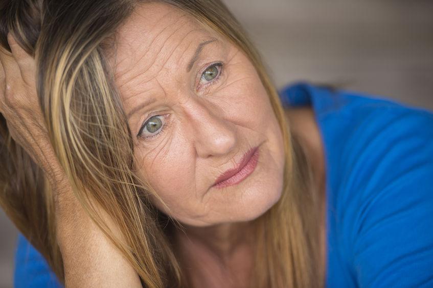 Image ID 39418728 Copyright 123RF worried woman closeup