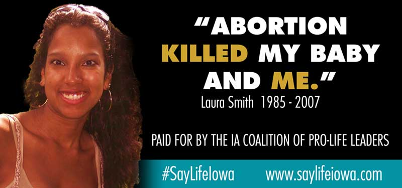 sanctity of life in Iowa