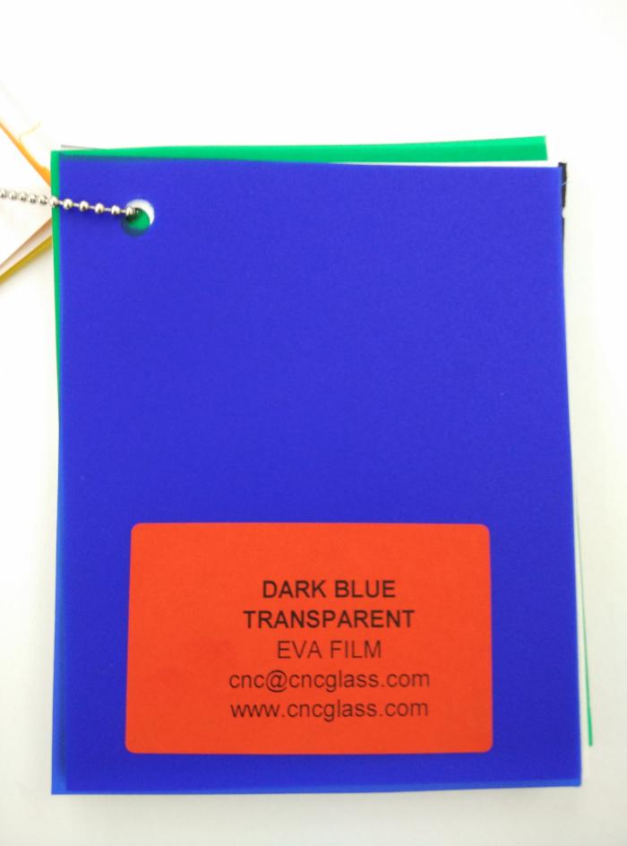Dark Blue EVAVISION transparent EVA interlayer film for laminated safety glass (10)