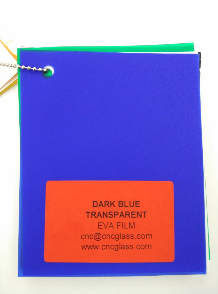 Dark Blue EVAVISION transparent EVA interlayer film for laminated safety glass (11)
