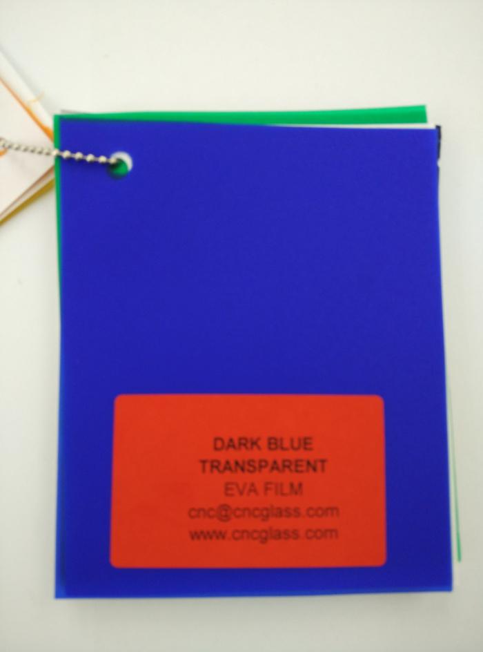 Dark Blue EVAVISION transparent EVA interlayer film for laminated safety glass (12)
