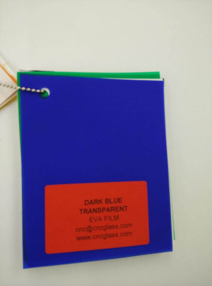 Dark Blue EVAVISION transparent EVA interlayer film for laminated safety glass (13)
