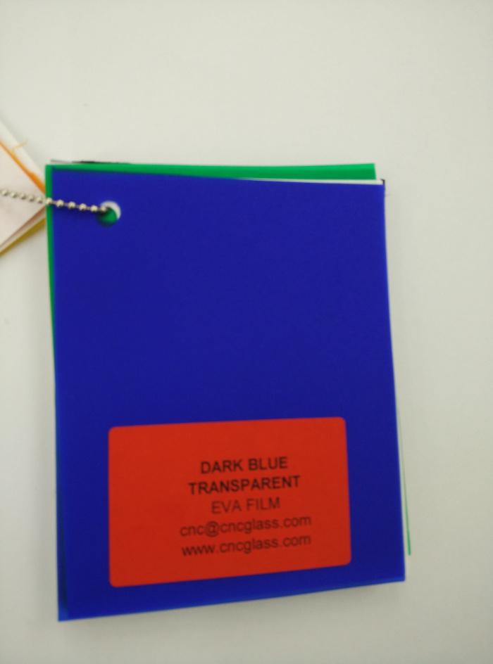 Dark Blue EVAVISION transparent EVA interlayer film for laminated safety glass (14)
