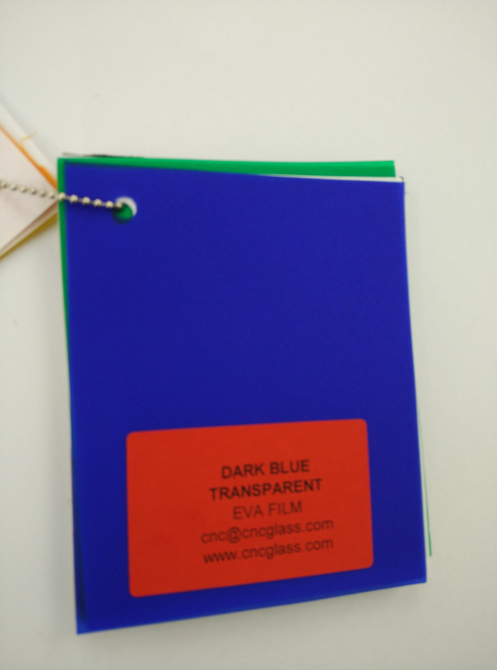 Dark Blue EVAVISION transparent EVA interlayer film for laminated safety glass (15)
