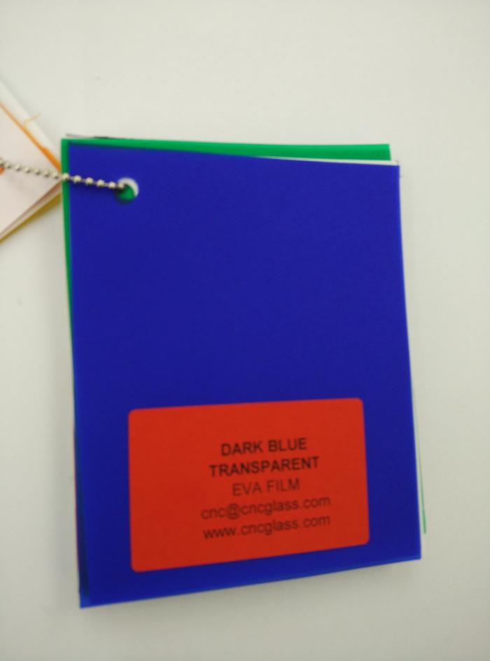 Dark Blue EVAVISION transparent EVA interlayer film for laminated safety glass (16)