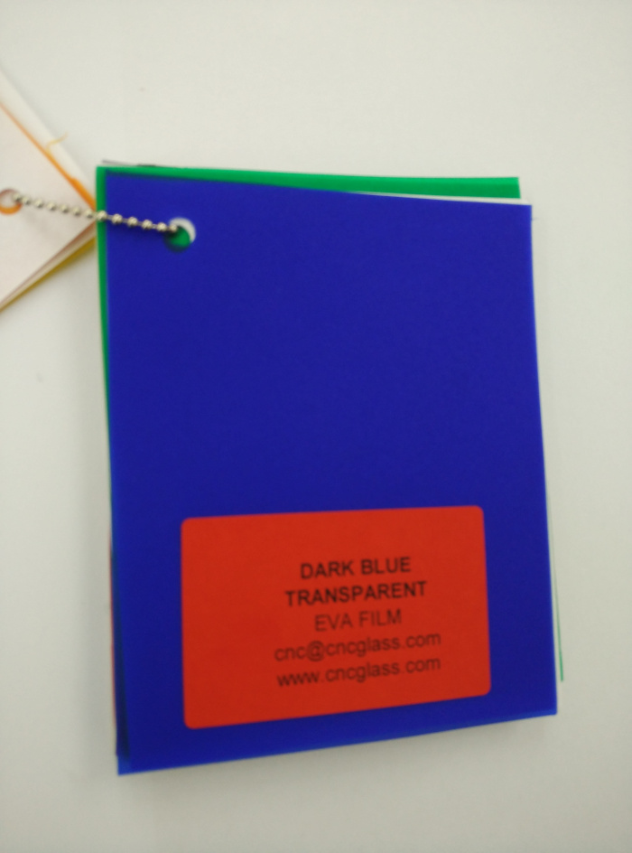 Dark Blue EVAVISION transparent EVA interlayer film for laminated safety glass (17)