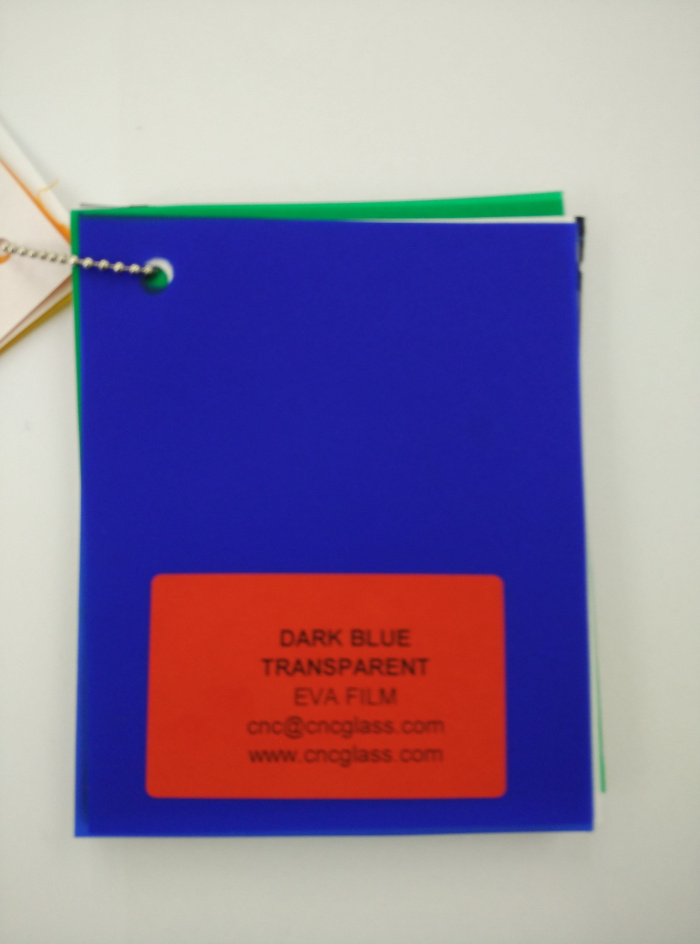 Dark Blue EVAVISION transparent EVA interlayer film for laminated safety glass (19)