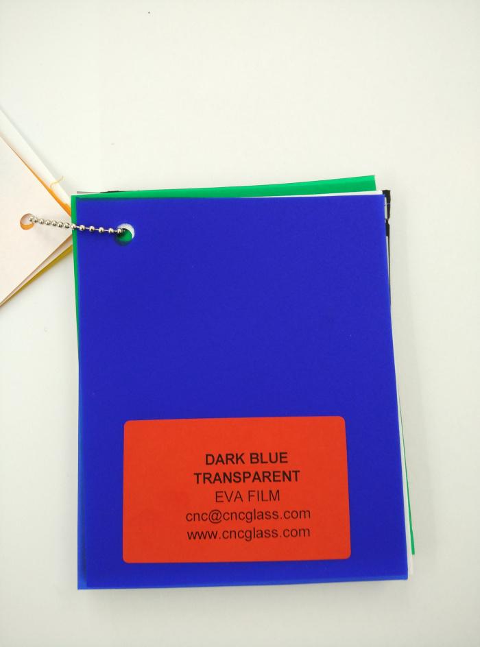 Dark Blue EVAVISION transparent EVA interlayer film for laminated safety glass (2)