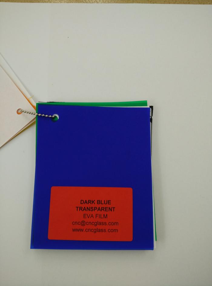 Dark Blue EVAVISION transparent EVA interlayer film for laminated safety glass (20)