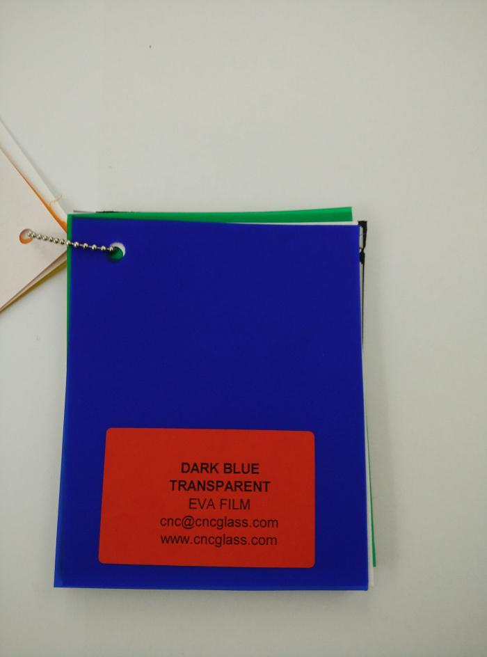 Dark Blue EVAVISION transparent EVA interlayer film for laminated safety glass (22)