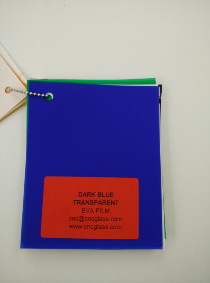 Dark Blue EVAVISION transparent EVA interlayer film for laminated safety glass (23)