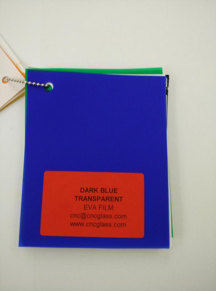 Dark Blue EVAVISION transparent EVA interlayer film for laminated safety glass (24)