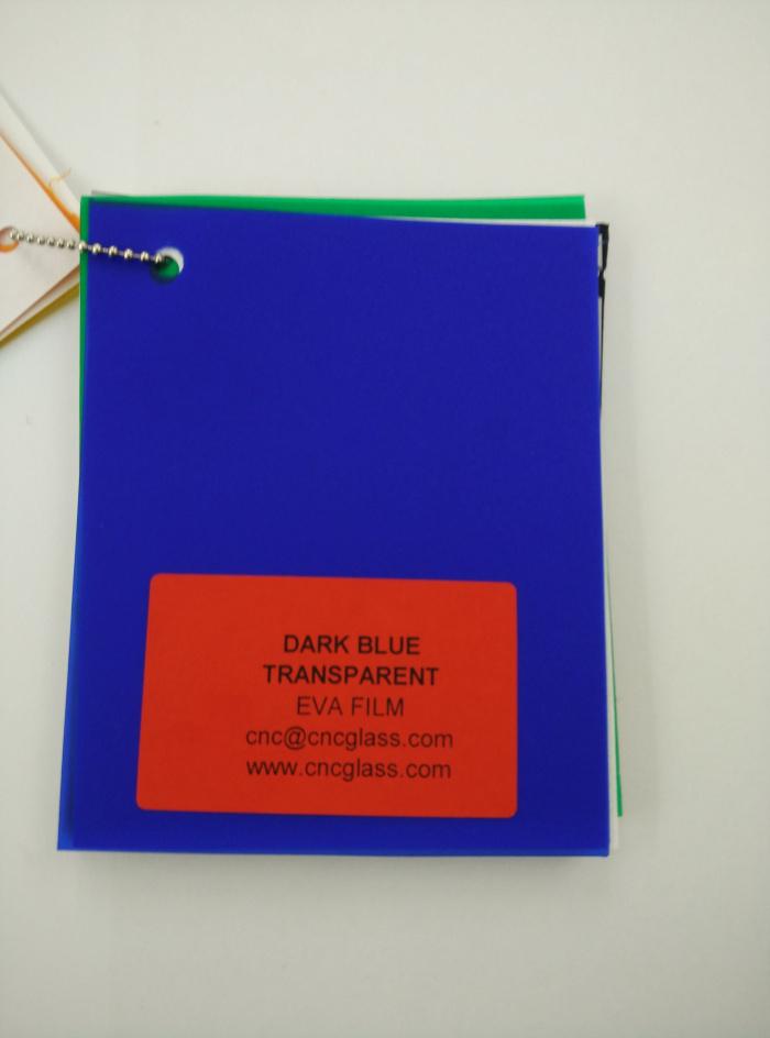 Dark Blue EVAVISION transparent EVA interlayer film for laminated safety glass (25)