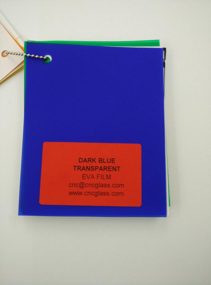 Dark Blue EVAVISION transparent EVA interlayer film for laminated safety glass (26)