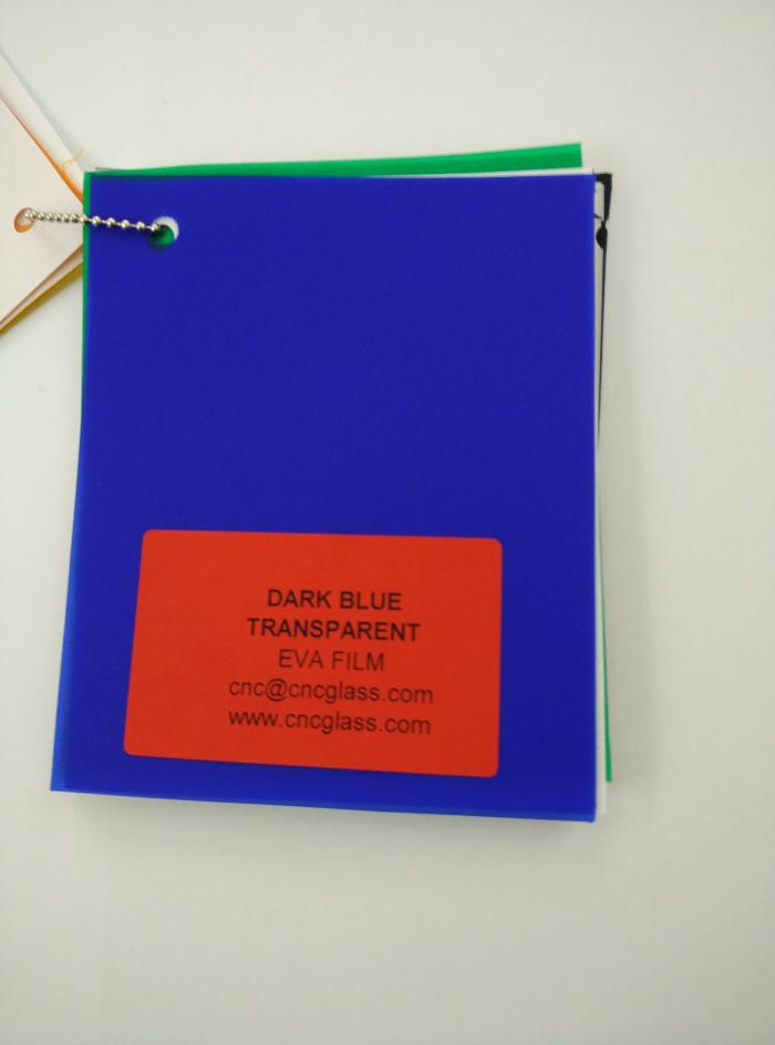 Dark Blue EVAVISION transparent EVA interlayer film for laminated safety glass (27)