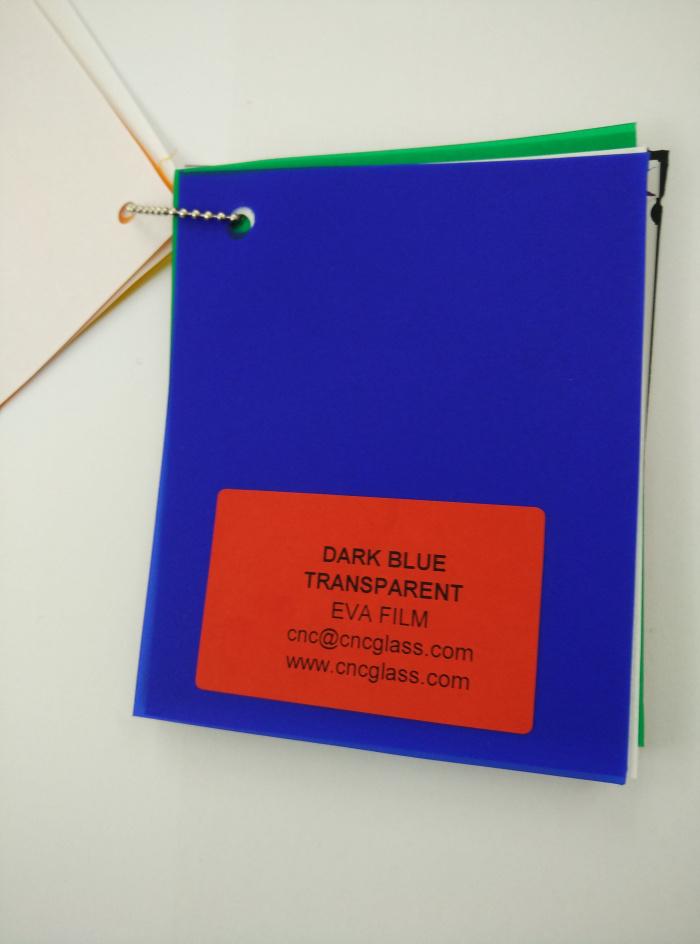 Dark Blue EVAVISION transparent EVA interlayer film for laminated safety glass (29)