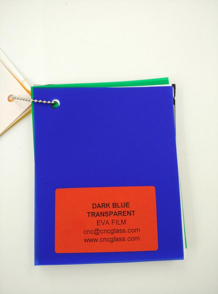 Dark Blue EVAVISION transparent EVA interlayer film for laminated safety glass (3)