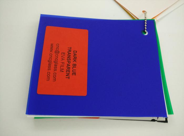 Dark Blue EVAVISION transparent EVA interlayer film for laminated safety glass (30)