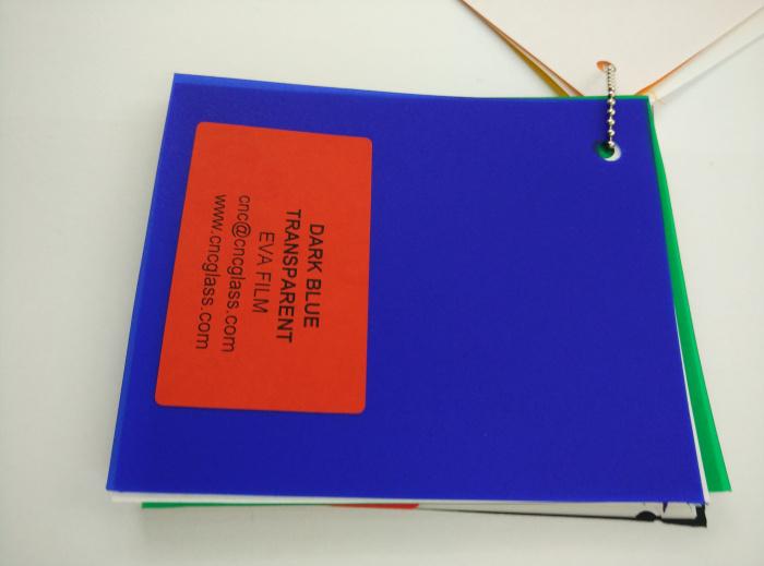 Dark Blue EVAVISION transparent EVA interlayer film for laminated safety glass (31)