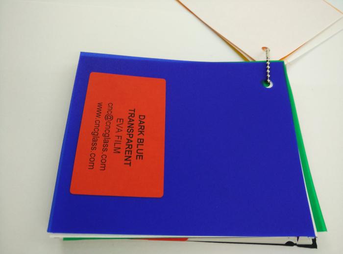 Dark Blue EVAVISION transparent EVA interlayer film for laminated safety glass (32)