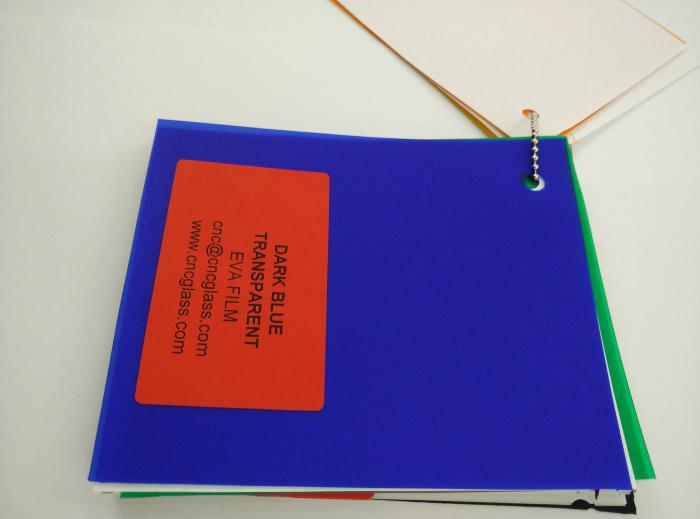 Dark Blue EVAVISION transparent EVA interlayer film for laminated safety glass (33)