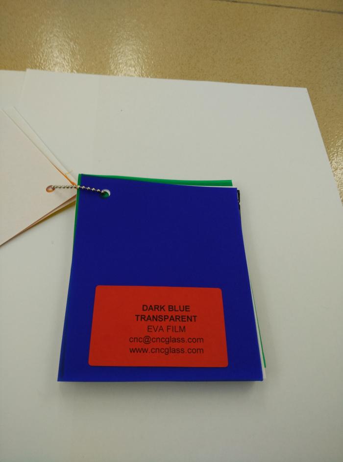 Dark Blue EVAVISION transparent EVA interlayer film for laminated safety glass (34)