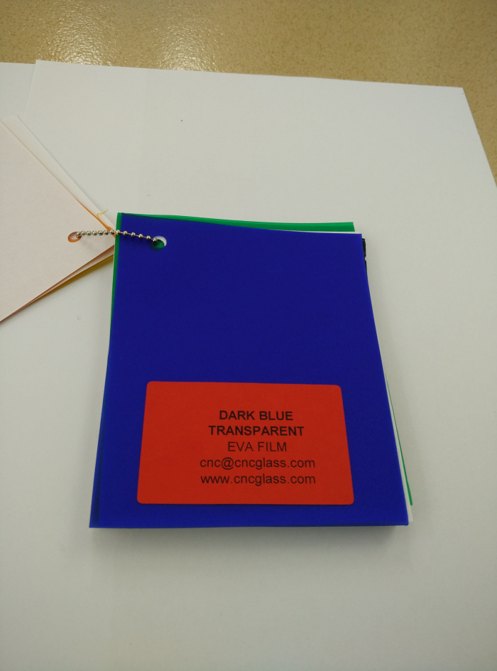 Dark Blue EVAVISION transparent EVA interlayer film for laminated safety glass (36)
