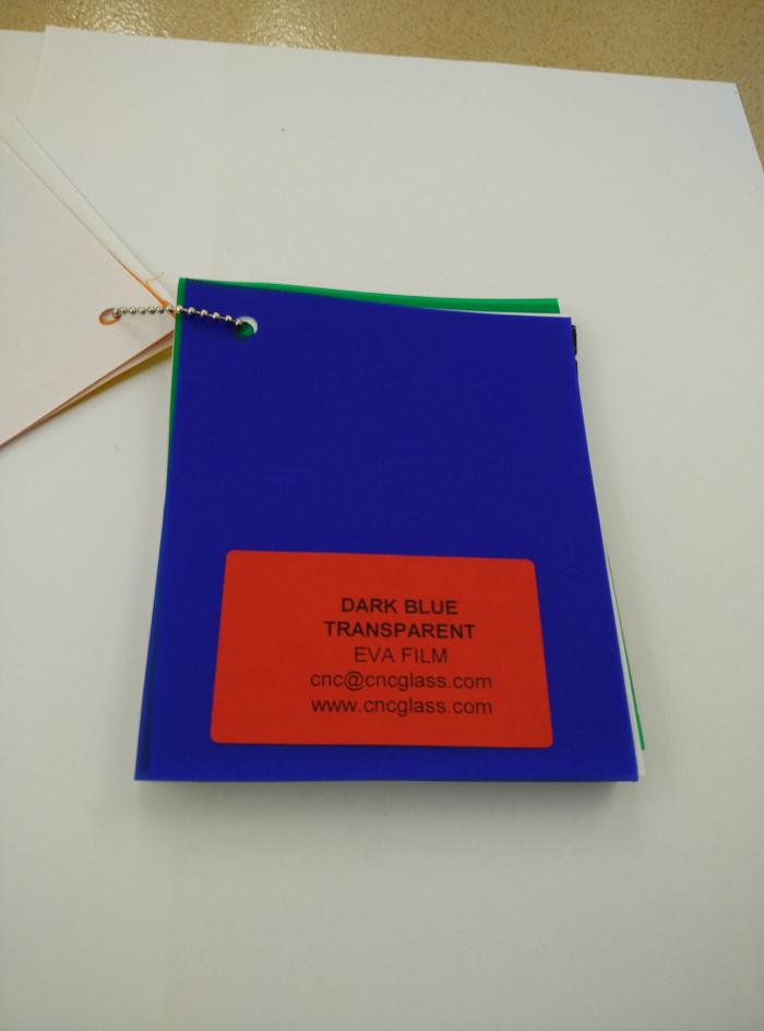 Dark Blue EVAVISION transparent EVA interlayer film for laminated safety glass (37)