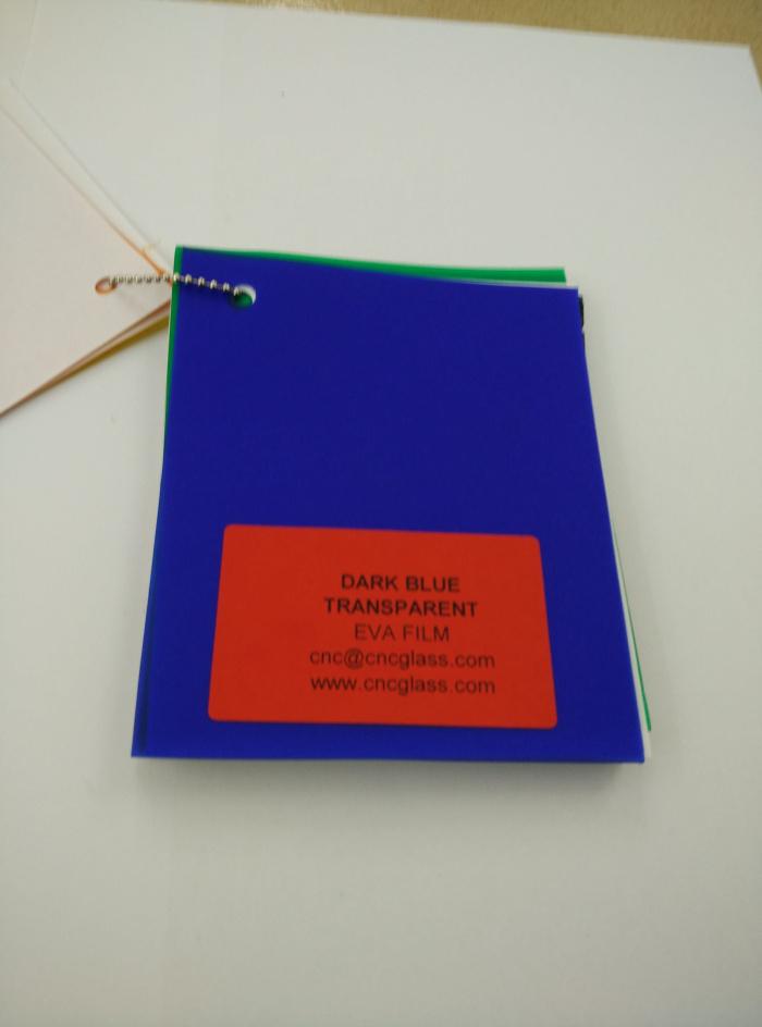 Dark Blue EVAVISION transparent EVA interlayer film for laminated safety glass (38)