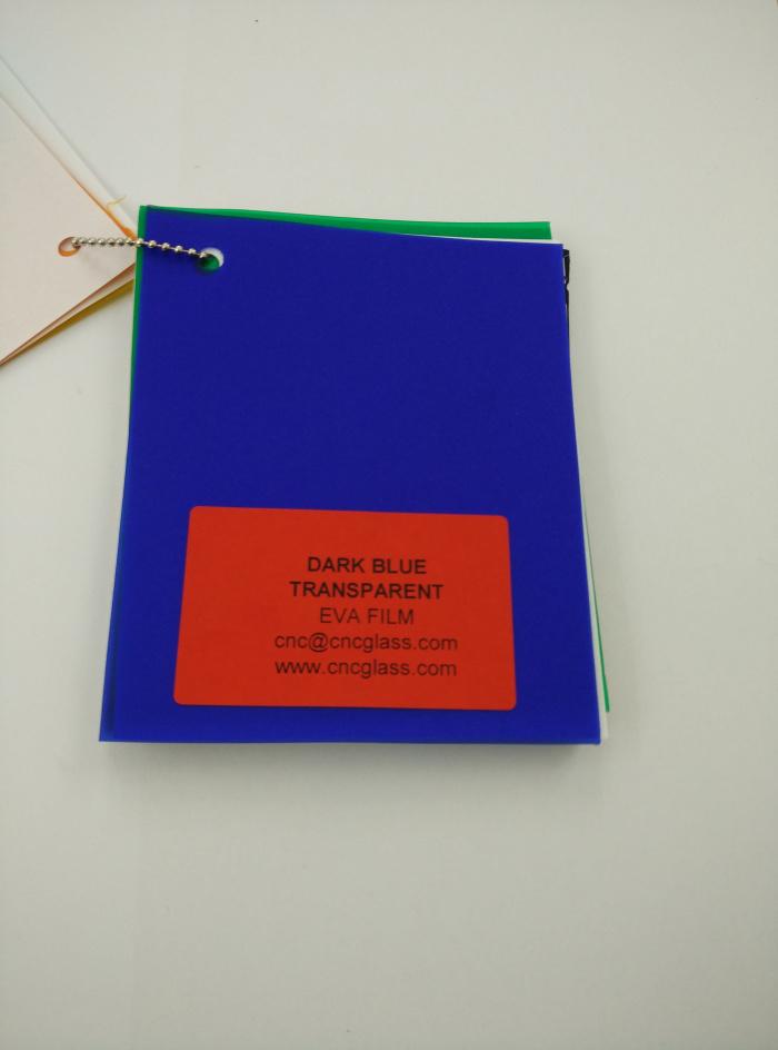 Dark Blue EVAVISION transparent EVA interlayer film for laminated safety glass (39)