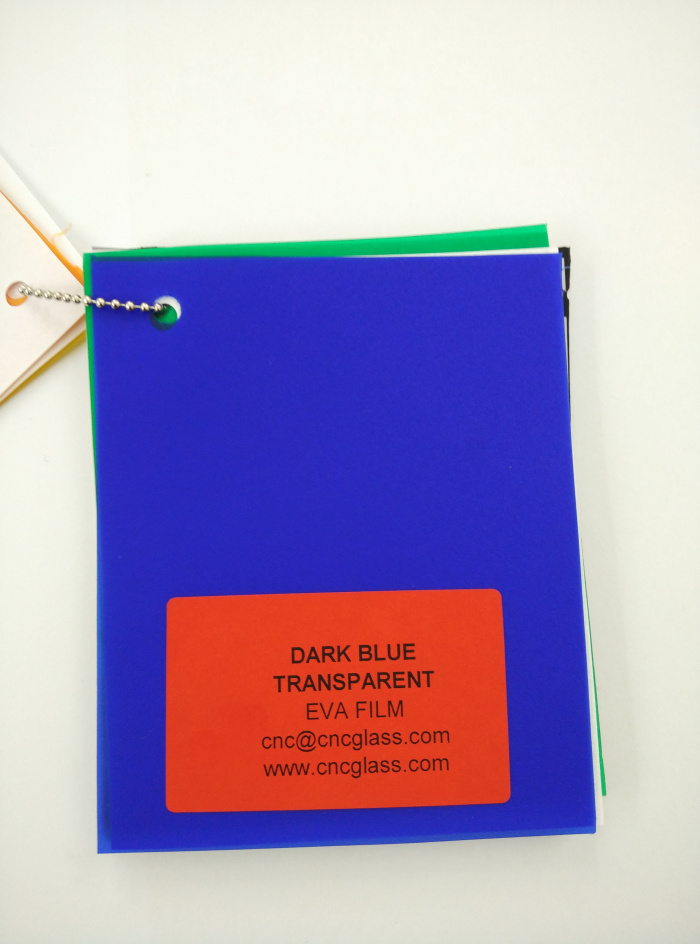Dark Blue EVAVISION transparent EVA interlayer film for laminated safety glass (4)