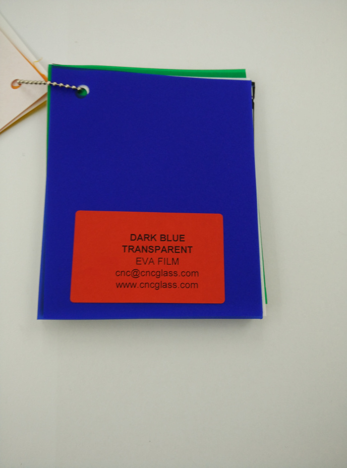 Dark Blue EVAVISION transparent EVA interlayer film for laminated safety glass (40)