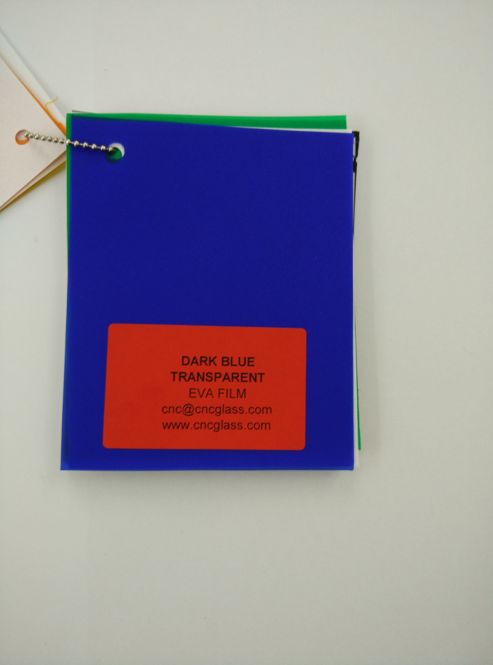 Dark Blue EVAVISION transparent EVA interlayer film for laminated safety glass (41)